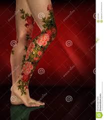 leg flower tattoos 3d tattoos of flowers on legs 3d triangle tattoo on floral leg