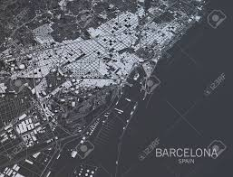 Satellite View Maps Barcelona Map Satellite View Spain Stock Photo Picture And
