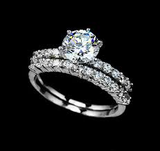 wedding ring with two bands bridal set ring 1 75 carat cut cubic zirconia two ring set