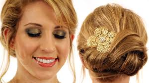 new year u0027s eve hair and makeup tutorial knot updo hairstyle