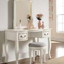 wooden dressing vanity table set makeup desk w flip hooker