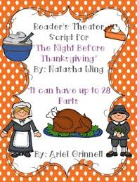 reader s theater script for the before thanksgiving by
