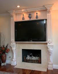 living room inspiring modern fireplace mantel ideas with tv also