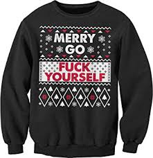merry bitches sweater amazon com merry go yourself sweater style