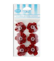 offray accessories offray beaded center flower ribbon accessory joann