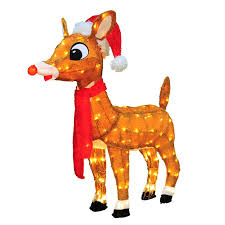 product works soft tinsel rudolph red nosed reindeer christmas