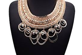 chunky chain charm necklace images Girl era luxury indian style oval circle pendant round knit chain jpg