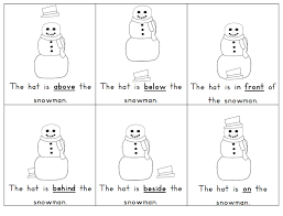 snowman prepositions lesson worksheets funnycrafts