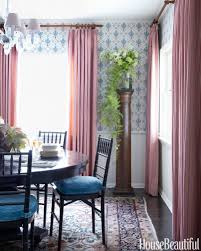 dining room elegant dining room curtains with curtain hardware