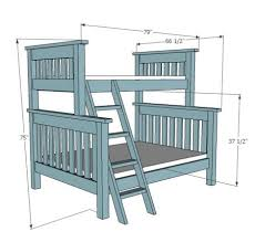 extra long twin over queen bunk bed plans beginner woodworking plans