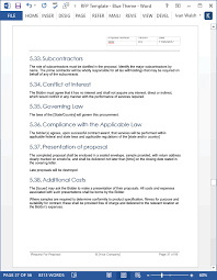 new request for proposal rfp templates