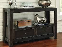 black sofa table with drawers amazing ashley watson console table dark brown transitional console