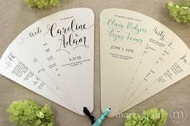 wedding ceremony fans 4 blade petal program fan heart style wedding ceremony programs