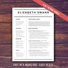 Resume Format Word File Resume Template Word Free Cover Letter Cv Template