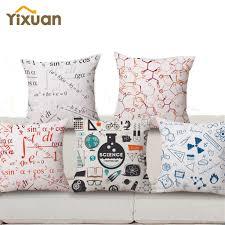 18 square 18 u0027 u0027 square math formula cushion covers yixuan science chemistry