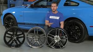 Blue And Black Mustang Mustang Boss Laguna Seca Style Wheel Black Charcoal And Black