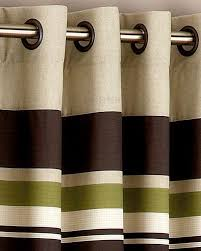 Green And Brown Shower Curtains Yale Green Brown Striped Eyelet Curtain Green Curtains Master