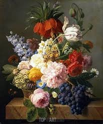 flowers and fruit still with flowers and fruit dael painting