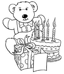 happy birthday teddy bear coloring pages for kids frh printable