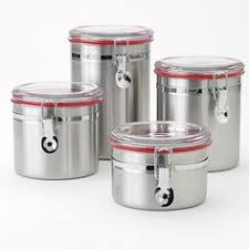 stainless steel kitchen canister sets new4 stainless steel cl canister set storage organizer