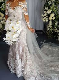wedding dresses with sleeves best 25 lace wedding dress with sleeves ideas on