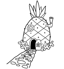 10 images of spongebob house coloring pages free printable