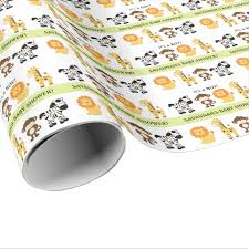 customized wrapping paper bright jungle safari customized wrapping paper