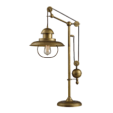 dimond lighting d2252 farmhouse table lamp antique brass finish