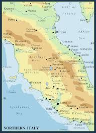 Cortona Italy Map by Metron Ariston Prehistoric Italy