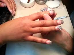 how to do quick gel powders nails and bow design youtube