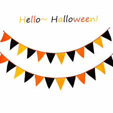 vintage outdoor halloween decoration paper halloween garland