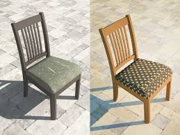 How To Make Seat Cushions For Dining Room Chairs How To Reupholster A Dining Chair Seat 14 Steps With Pictures