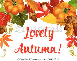 autumn season poster thanksgiving design autumn