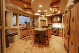interesting kitchen design trends with awesome ceiling and dining