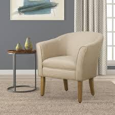 Barrel Accent Chair Homepop Modern Barrel Accent Chair Flax Brown Homepop