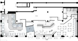 Fast Food Kitchen Design Interior Restaurant Floor Plan With Bar Pertaining To Lovely