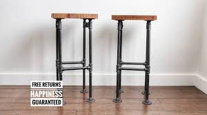 Metal Bar Chairs Bar Stools Rustic Red Metal Bar Stool Wood Stools Kitchen With