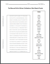 rise and fall of african civilizations free printable word