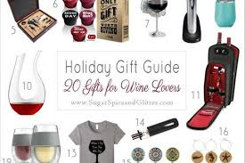 20 gifts for wine sugar spice and glitter