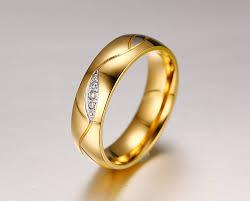 size 7 13 2015 new 18k plated classic gold men rings black online cheap fashion austrian rings for women 18k gold