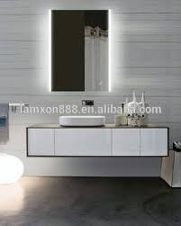 Led Backlit Bathroom Mirror Lamxon Design Led Backlit Bathroom Mirror With Touch Switch View