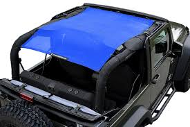 blue jeep alien sunshade jkfb jeep wrangler 2 door jk mesh sun shade top