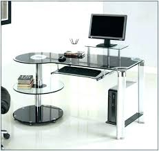 Home Office Glass Desks L Glass Desk Bethebridge Co