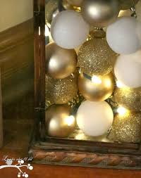 Christmas Decorations Lights In A Bowl by Lookie What I Did Ornament Filled Lantern With Christmas Lights