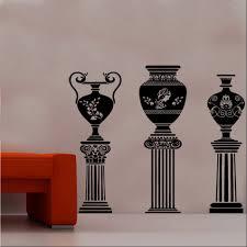 Greek Vase Design Ancient Greek Vase On Column Designe 4 Vinyl Wall Art Shop