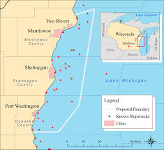 Map Of Michigan Cities by Map Of Lake Michigan Shipwrecks Michigan Map