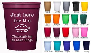 thanksgiving cups personalized plastic cups for thanksgiving