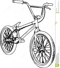 how to draw a bmx bike pencil art drawing