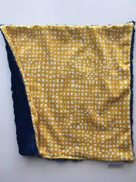 mustard navy geometric lovey gray baby lovey security blanket
