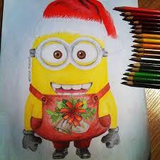 christmas minion drawing vanessathibault deviantart